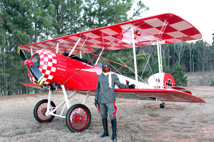 Immortal Red Baron, who keeps his identity concealed, puts on a dynamic air show